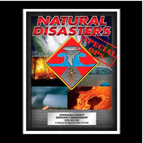 Natural Disasters Coloring Book
