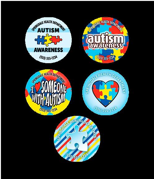 Autism Awareness Assorted Stickers