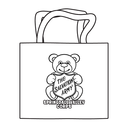 Salvation Army Teddy Bear Coloring Tote