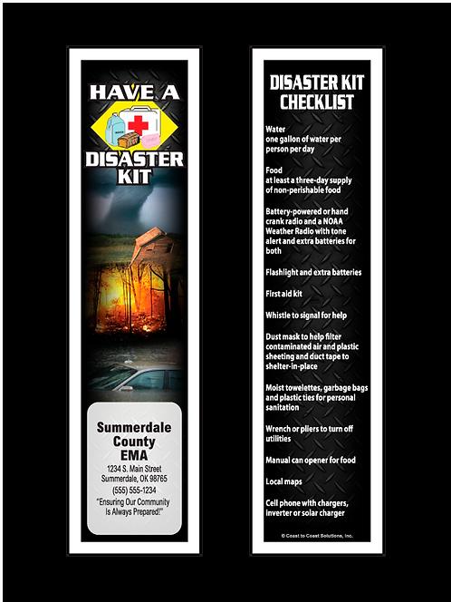 Disaster Kit Checklist Bookmark