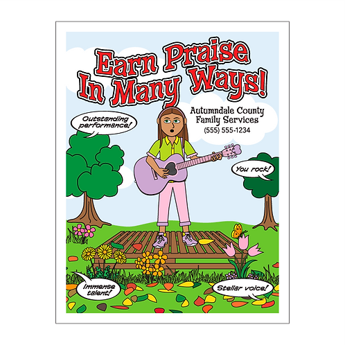 Earn Praise In Many Ways Coloring Book
