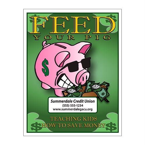 Feed Your Pig Coloring Book