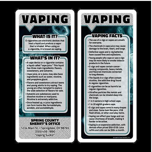Vaping Awareness Q&A Card