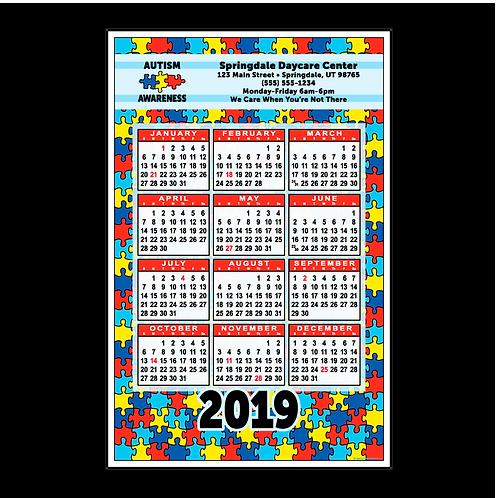 Autism Awareness Wall Calendar