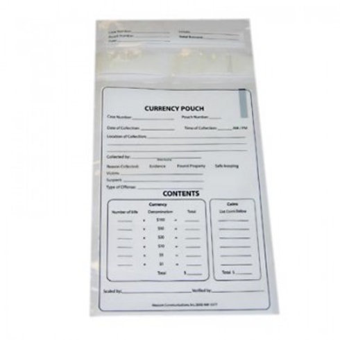 Plastic Currency Evidence Bag