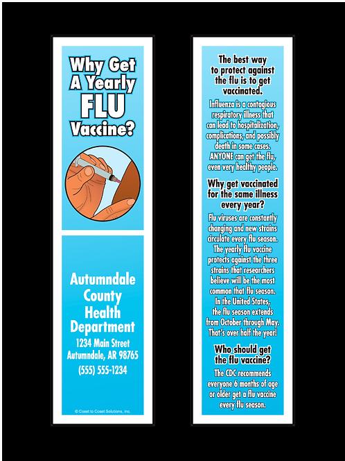 Flu Vaccine Bookmark