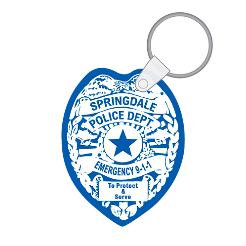 Police Badge Shaped Keytag