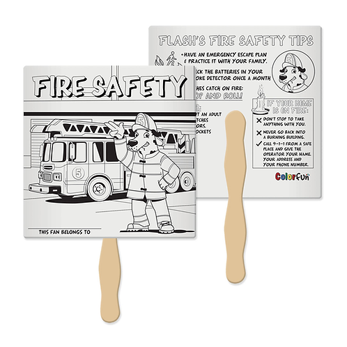 Fire Safety Color Fun Fan