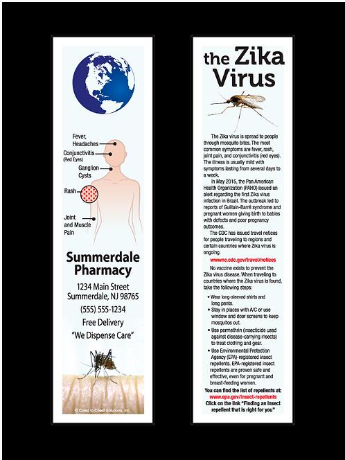 Zika Virus Bookmark