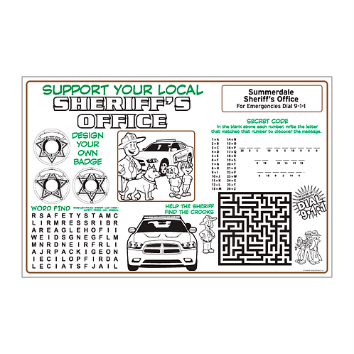 Sheriff Coloring & Activity Sheet