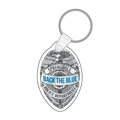 Back The Blue - Badge Shaped Keytag
