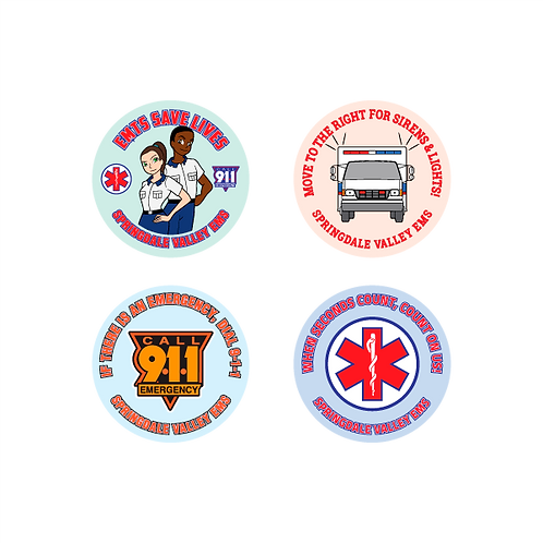 EMTs Save Lives Assorted Stickers