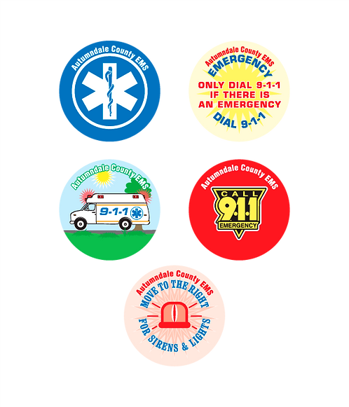 9-1-1 Assorted Stickers