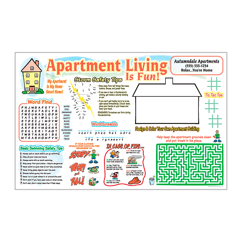 Apartment Living Activity Poster