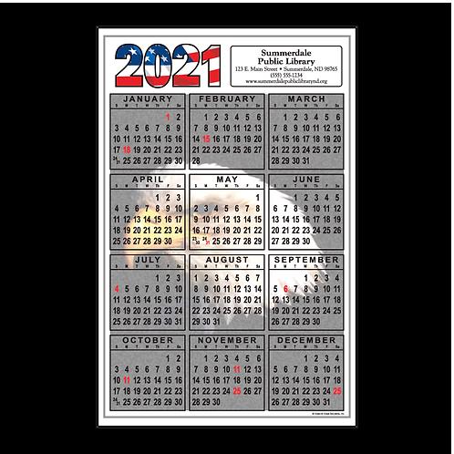 Patriotic Eagle Wall Calendar