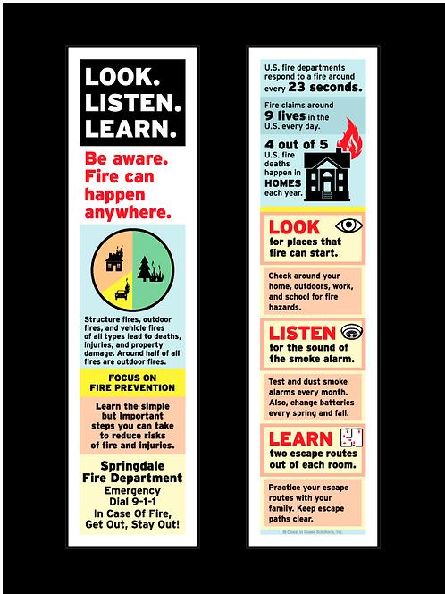 Fire Prevention Bookmark