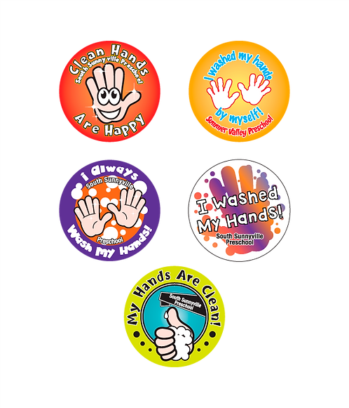 Clean Hands Assorted Stickers