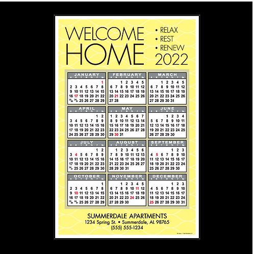 Welcome Home Modern Wall Calendar