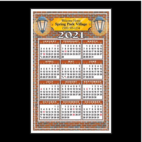 Bricks & Lights Wall Calendar