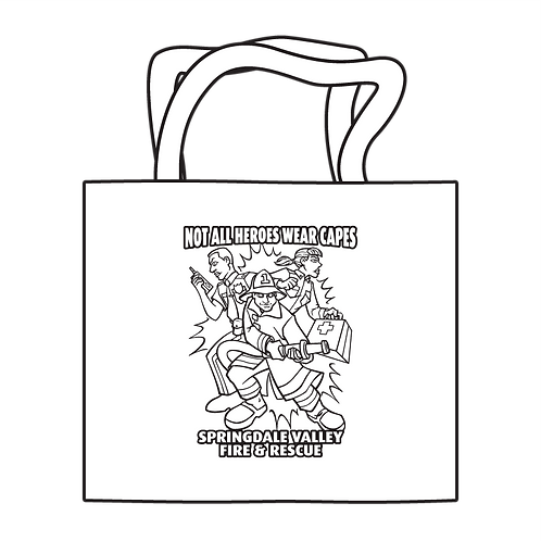 Not All Heroes Wear Capes Coloring Tote