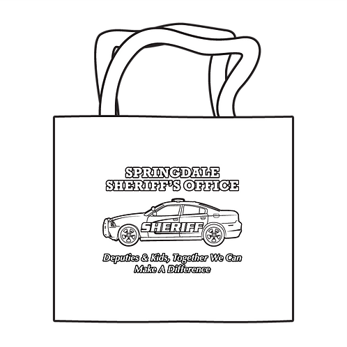Sheriff's Department Coloring Tote