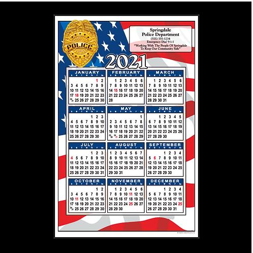 Police Flag Wall Calendar
