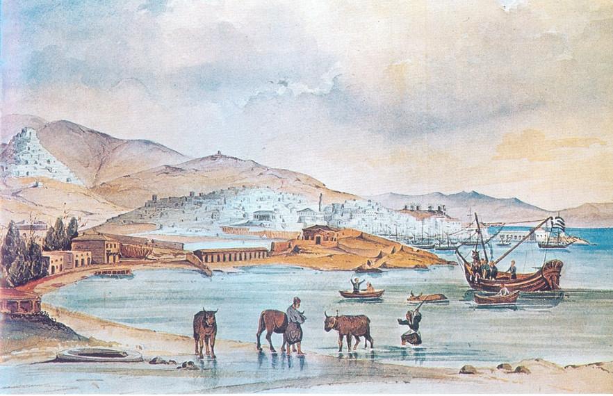W. von Weiler, Ερμούπολη, 1842.jpg