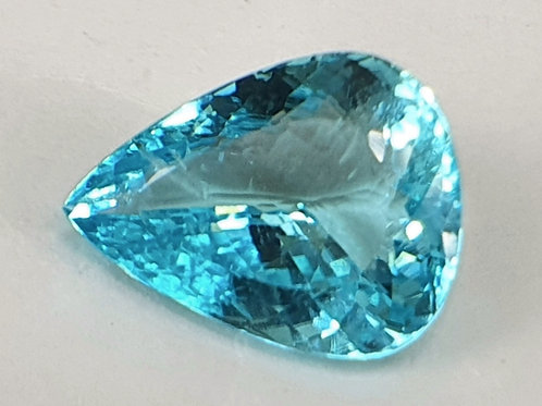 3.09 Ct Natural Paraiba Tourmaline neon blue 11.5 x 9 mm from
