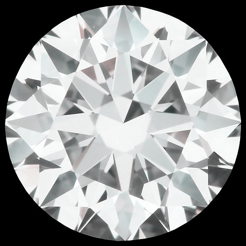 0.54 CT GIA CERTIFIED DIAMOND SOLITAIRE, H COLOR, SI1, 3EX