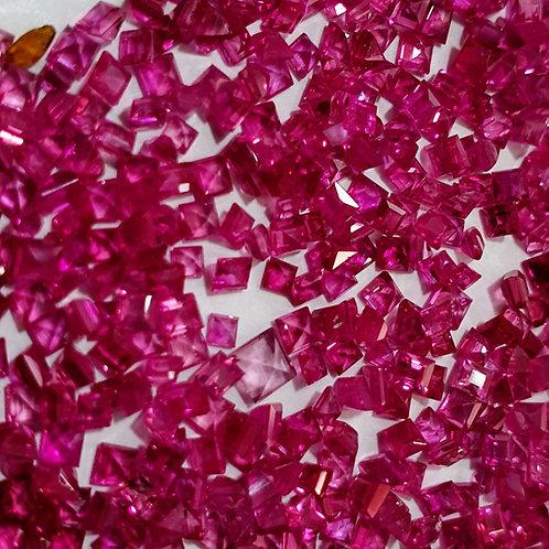 23.80 carats, Natural Ruby Pinkish Red  1.5 - 2 mm