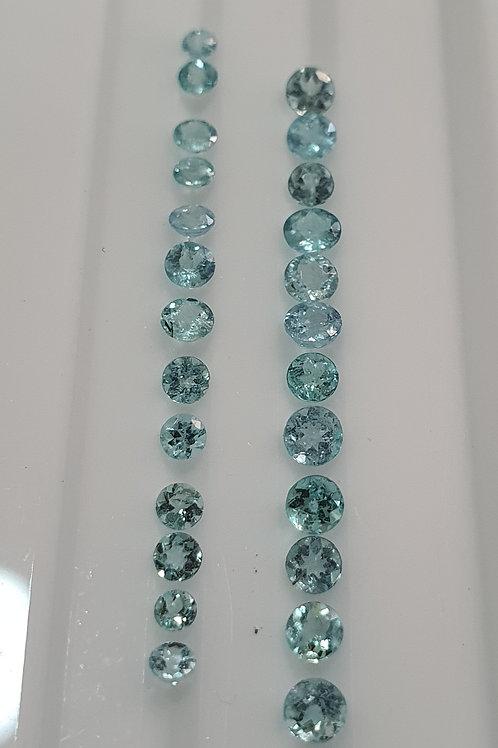 US 500 /CT, 2.55 carats Paraiba Tourmaline 2 - 3.5 mm size Round