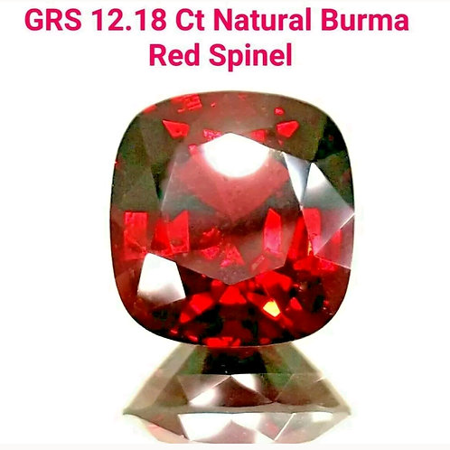 SOLD-GIA certified 12.18 Ct Natural Burma Red Spinel loose gemstone