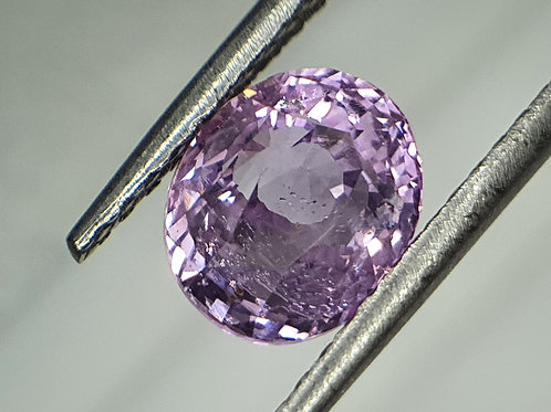 2.97 carat Certified Natural Sapphire Lilac Pink unheat