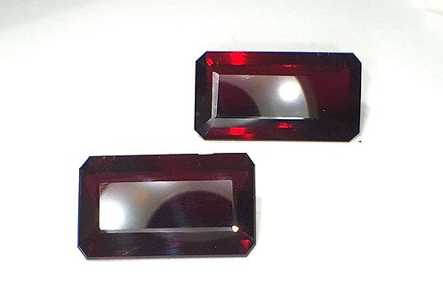 29.46 Ct Natural Rhodolite Garnet matching pair