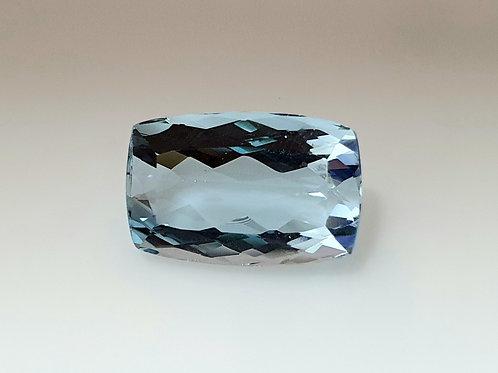 US $200/Ct, Brazil 7 ct, Fine Aquamarine cushion natural gemstone