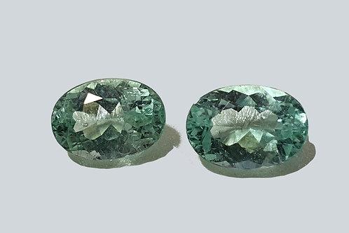 US 800 /CT, 2.62 carats Paraiba Tourmaline matching pair oval set