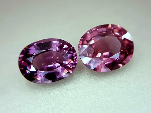 Natural Pink Spinel 4.89 Ct Oval matching Pair loose gemstone see video