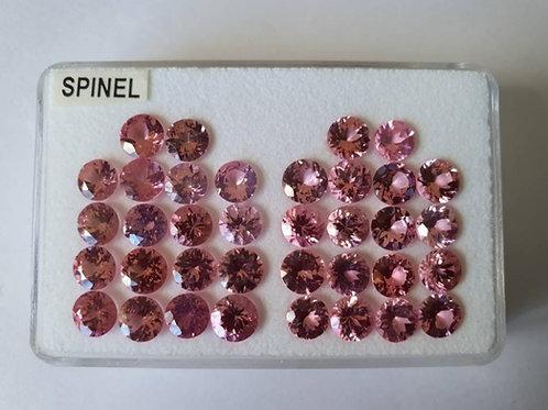 Diamond cut 19.80 ct Natural Tajikistan Pink Spinel 5 x 5 mm size