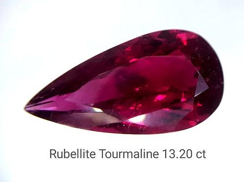 Natural Rubellite Tourmaline 13.20 ct loose stone