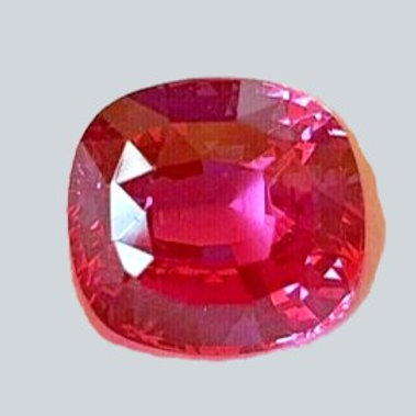 US $ 2386 PC / GRS certified Pink Sapphire 4.40 carat cushion from Madagascar