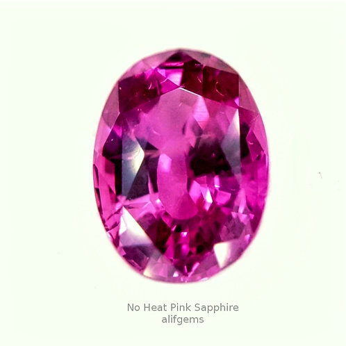 Certified No heat Vivid Pink sapphire 4.09 ct loose stone from Madagascar