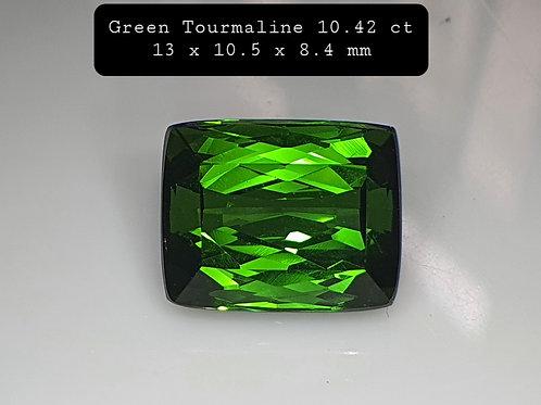 US $115/CT, Fine Natural Green Tourmaline 10.40 carat from Brazil