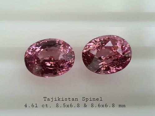Tajikistan Pink Spinel 4.61 Ct Oval calibrated matching Pair loose gemstone see