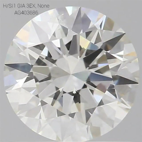 1.0 CT, H COLOR, SI1, LOOSE DIAMOND, GIA CERTIFIED,  3EX, NON