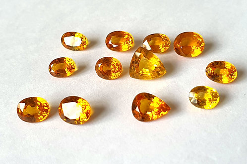 US$140 P/C, Natural Yellow Sapphire 1 - 2.5 carats all mix shape size