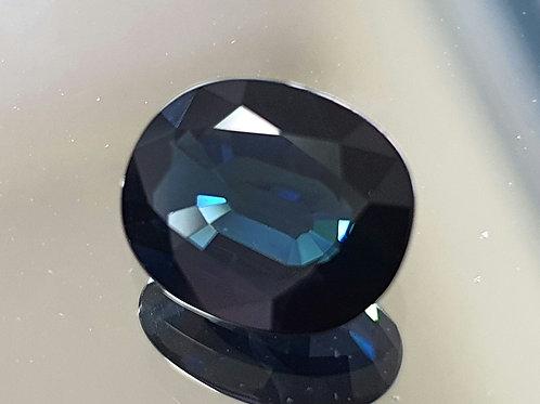 US $250, 3.98 carat Natural Blue Sapphire dark blue from Thailand