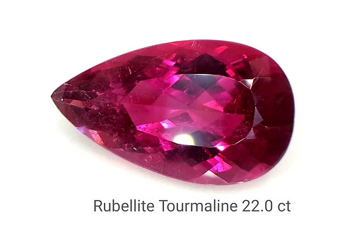 Natural Rubellite Tourmaline 22.0 ct loose stone
