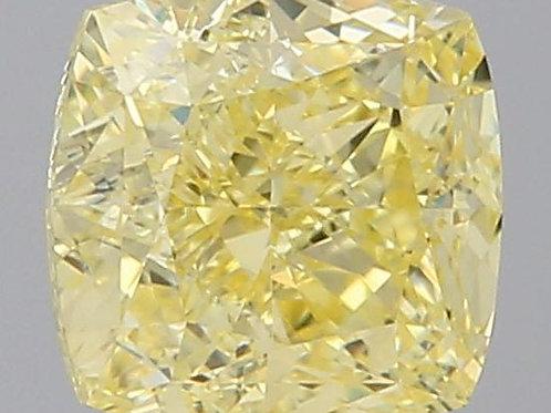 0.96 carat Fancy Yellow Diamond Cushion GIA certified