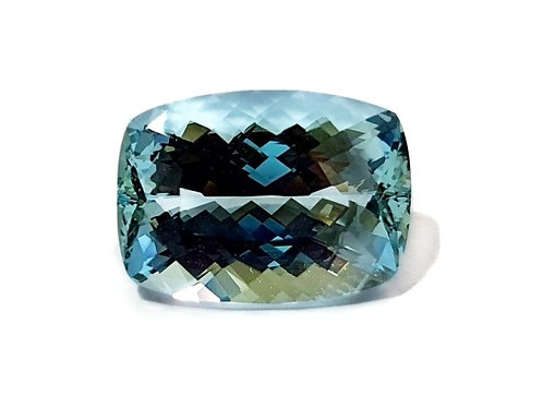 7.30 carat Natural Aquamarine cushion gemstone from Brazil