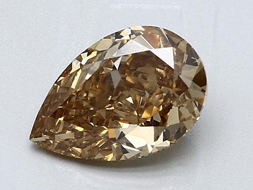 GIA certified 2 carat Yellow Brown Diamond Pear shape
